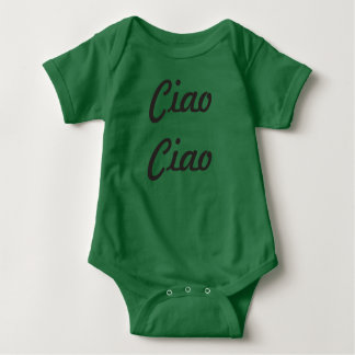 "Neutral Baby Bodysuit ""Ciao Ciao"""