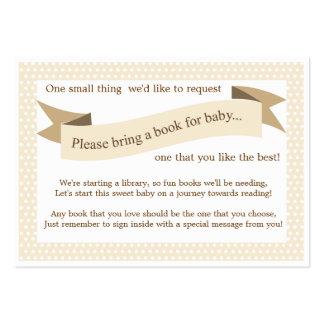 Neutral Baby Shower Book Insert Request Card
