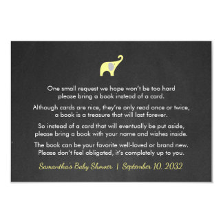 Neutral Baby Shower book request card, yellow Card