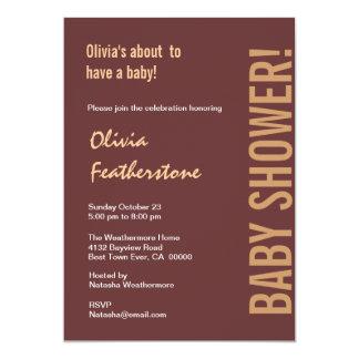 Neutral Baby Shower Chocolate Coffee Modern Custom Invitations