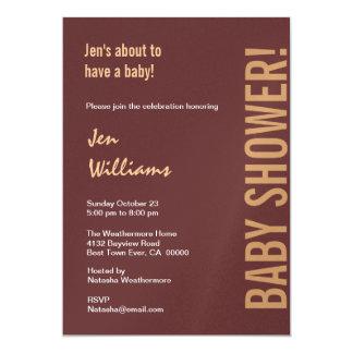 Neutral Baby Shower Chocolate Coffee Modern Announcement