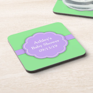 Neutral Baby Shower Green Coaster (set of 4)