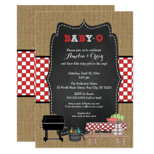Baby Q Invitations Announcements Zazzle
