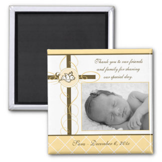 Neutral Baptism/Christening Favor - Photo Magnet