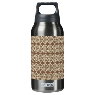 Neutral brown and cream insulated water bottle