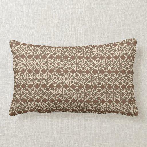 Neutral brown and cream throw pillows  Zazzle