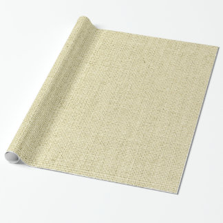 Neutral Burlap Wrapping Paper