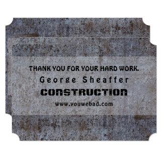 Neutral Cement Grunge Employee Appreciation Card