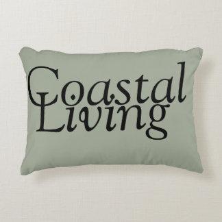 Neutral Coastal Living Accent Pillow