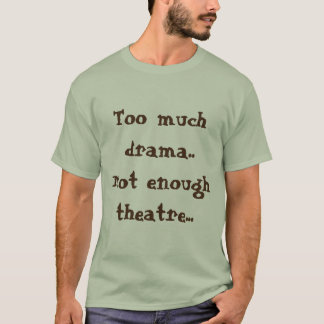Neutral color Men's drama tee shirt