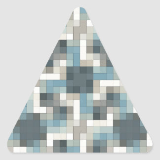 Neutral Colors Mosaic Triangle Sticker