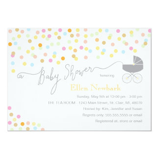 Neutral Confetti | Baby Shower Invitations
