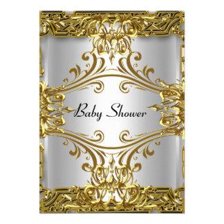 Neutral de la plata del oro de la fiesta de bienve invitación personalizada