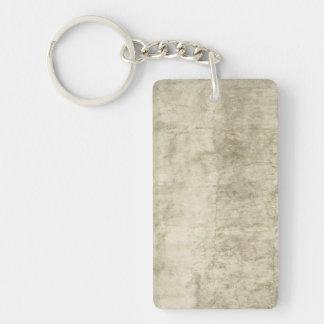 Neutral de papel antiguo del espacio en blanco de llavero rectangular acrílico a una cara