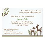 Neutral Deer Forest Baby Shower Invitations