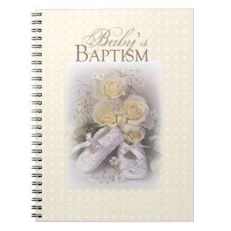 Neutral del bautismo del bebé, nombre adaptable, cuaderno