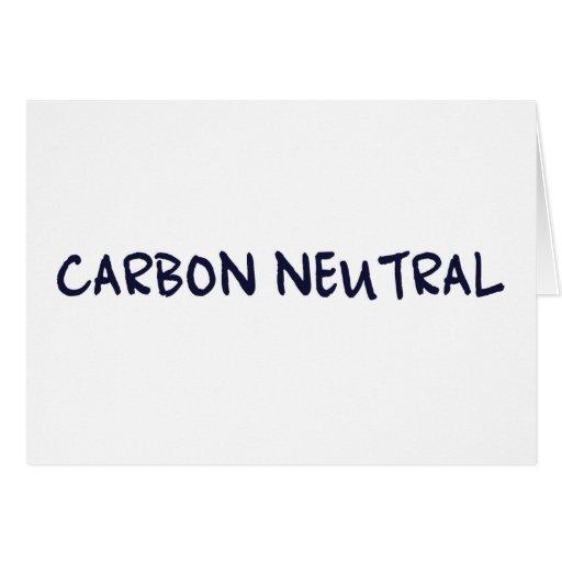 Neutral del carbono felicitacion
