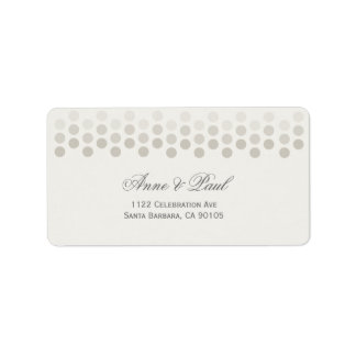 Neutral dots Address Labels