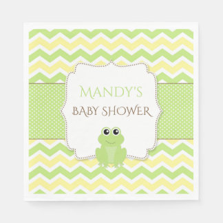Neutral Gender Frog Baby Shower napkins
