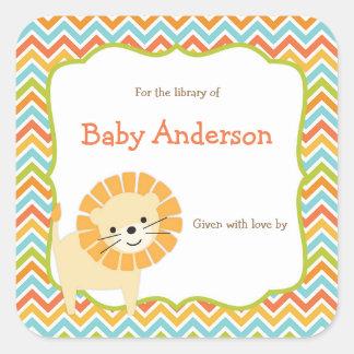Neutral Gender Lion Baby Bookplates