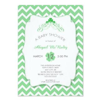 Neutral gender St Patrick's Day Baby Shower Card