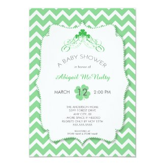 Neutral gender St Patrick's Day Baby Shower