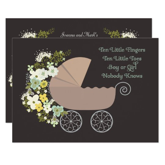 Neutral gender stroller baby shower invitation zazzle neutral gender stroller baby shower invitation filmwisefo