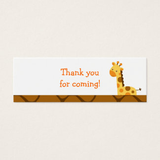 Neutral Giraffe Baby Shower Favor Gift Tags