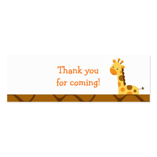 Neutral Giraffe Baby Shower Favor Gift Tags Double-Sided Mini Business Cards (Pack Of 20)