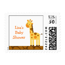 Neutral Giraffe Baby Shower Postage Stamps