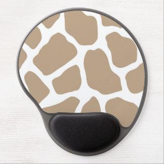 Neutral Giraffe Print Gel Mouse Pad