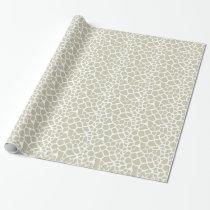 Neutral Giraffe Print Wrapping Paper