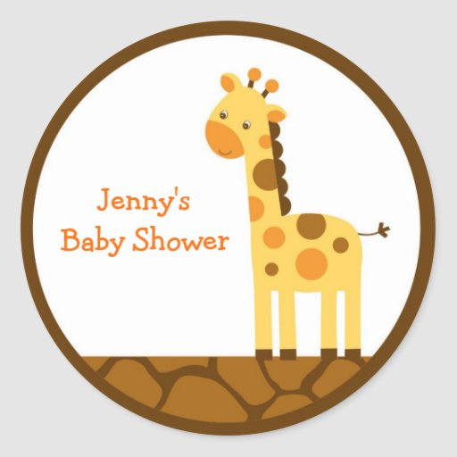 Neutral Giraffe Stickers Envelope Seals