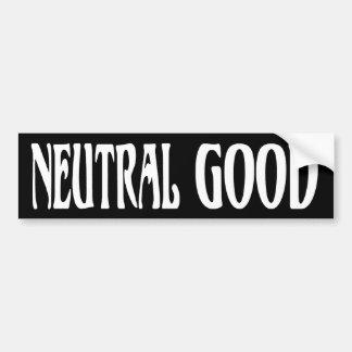 """Neutral Good"" Car Bumper Sticker"