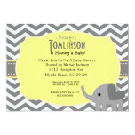 Neutral  Gray and Yellow Baby Shower Invitation