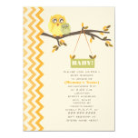 Neutral Green Fall Baby Shower Mommy & Baby Owls Invitations