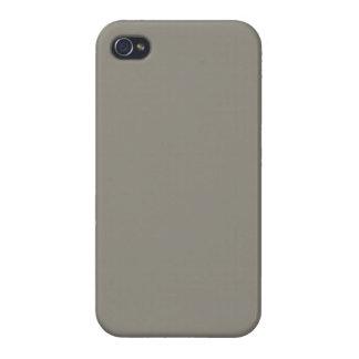 Neutral gris del acorazado - plantilla gris de Ear iPhone 4/4S Carcasa