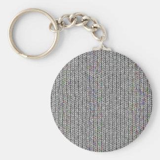 neutral knitwork keychain