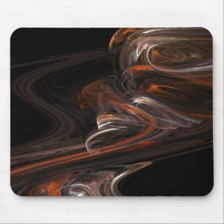 Neutral Light Ribbons Mouse Pad