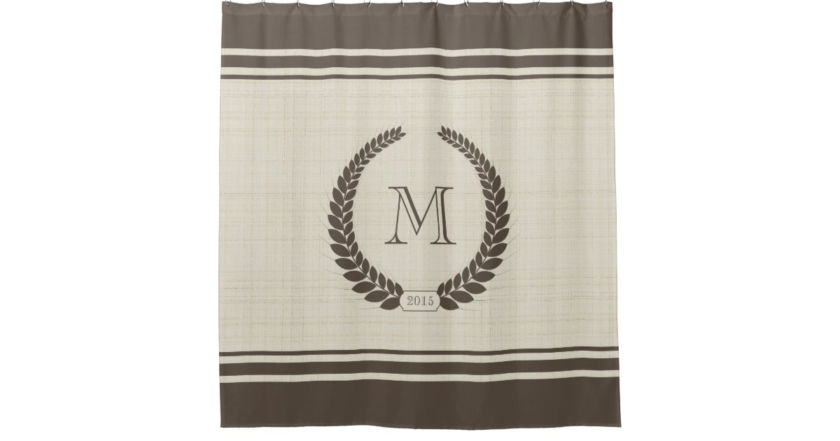 Monogram Shower Curtains | Zazzle