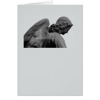 neutral mourning map greeting card