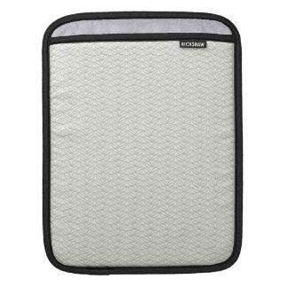 Neutral Organic Leaf Pattern Sleeve For iPads