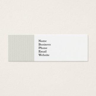 Neutral Organic Leaf Pattern Mini Business Card