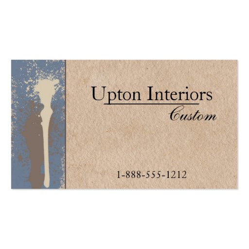 Neutral paint and brown paper business card zazzle for Brown paper business cards