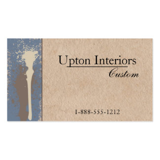 Neutral Paint and Brown Paper Business Card