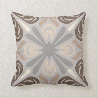 Neutral Pattern Pillow in Grey, Tan & Brown
