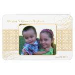 Neutral Photo Baptismal Magnet Invitations