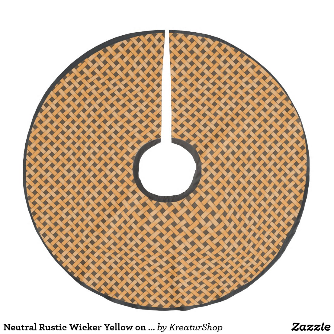 Neutral Rustic Wicker Yellow on Custom Brown