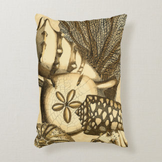 Neutral Shells and Coral Collection Decorative Pillow