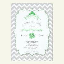 NEUTRAL St Patrick's Day Baby Shower Invites